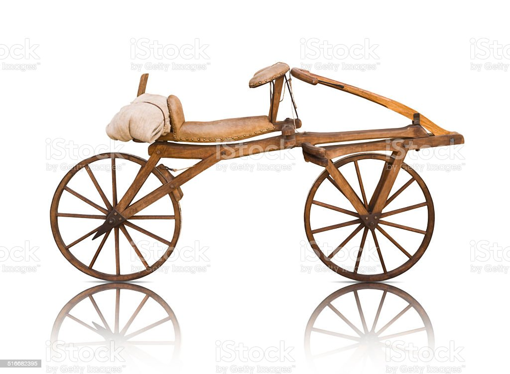 Draisine, Running machine (1817) by Karl Drais (German inventor, 1785-1851) stock photo