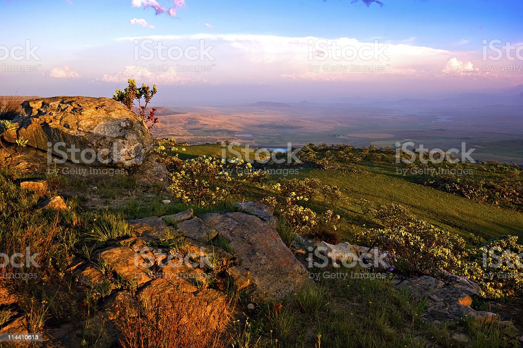 drakensberg landscape royalty-free stock photo