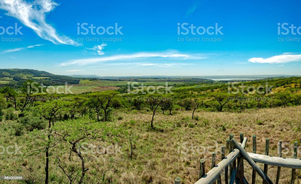 Drakensberg mountains South Africa landscape stock photo