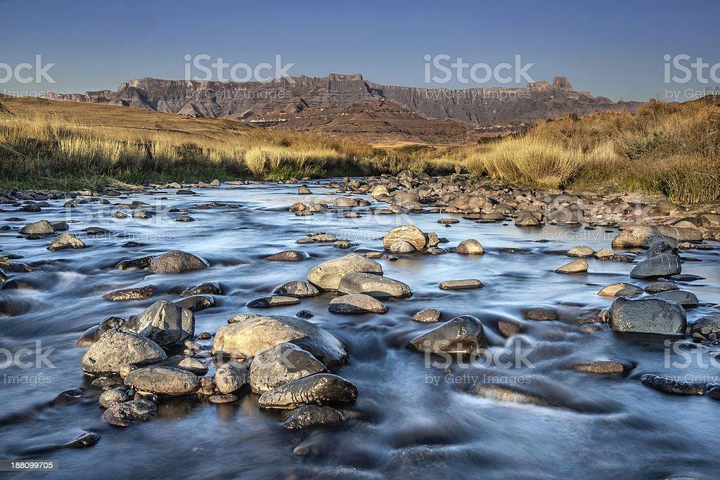 Drakensburg mountains stock photo