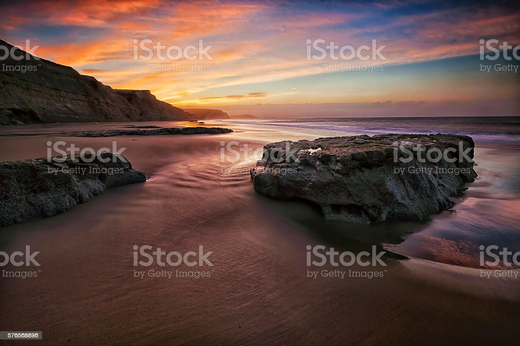 Drakes Beach Point Reyes Ca. stock photo