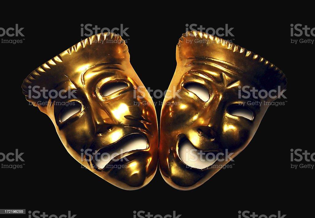 Drama masks royalty-free stock photo