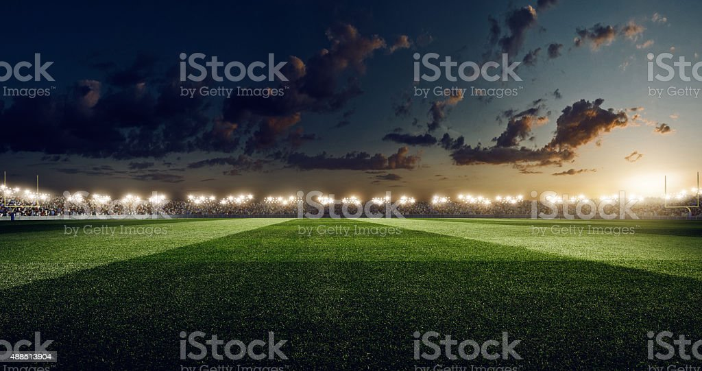 Dramatic american football stadium stock photo