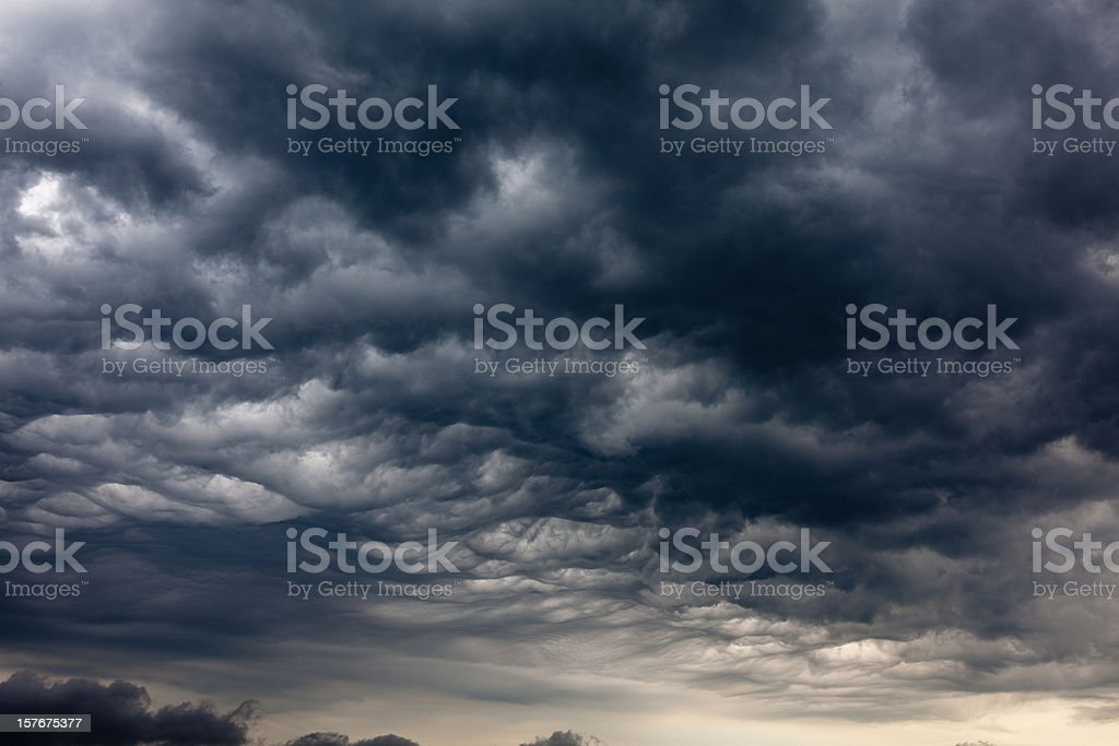 Dramatic and Dark Storm Clouds royalty-free stock photo