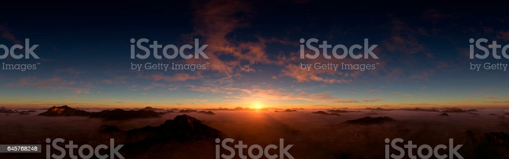 Dramatic And Majestic Sunset stock photo