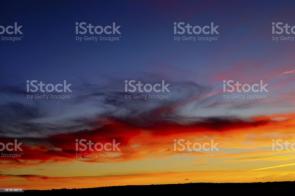 Dramatic apocalyptic sky royalty-free stock photo