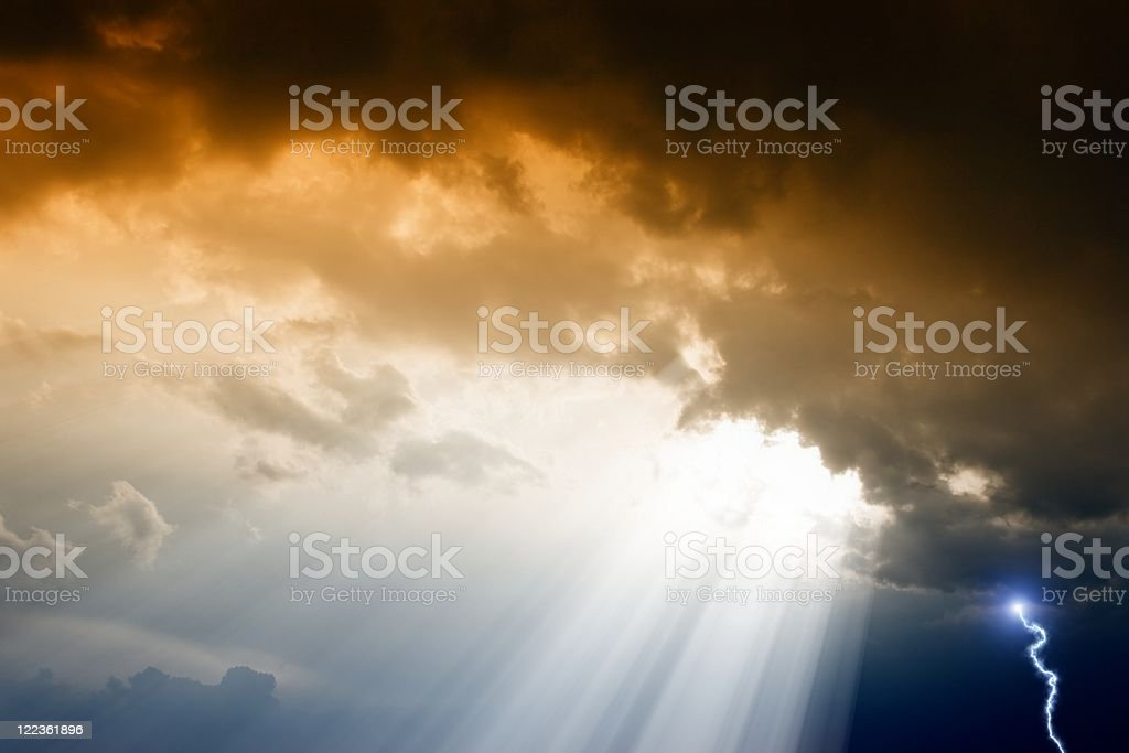 Dramatic background of dark sky and clouds royalty-free stock photo