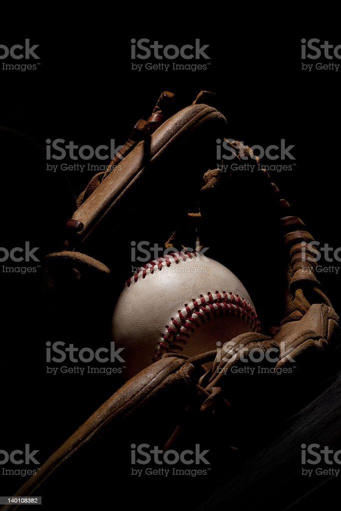 Dramatic Baseball and Glove stock photo