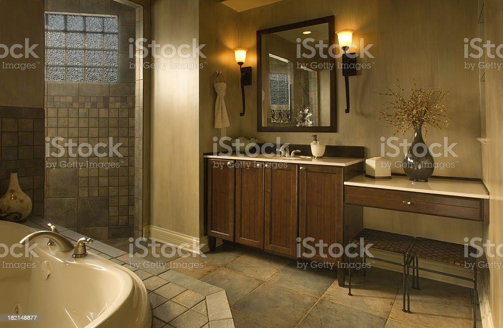 Dramatic Bathroom 2 stock photo