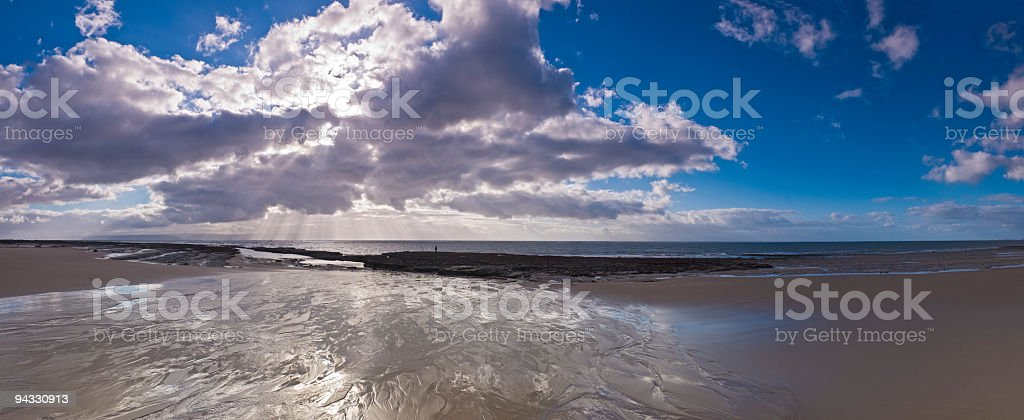 Dramatic beach cloudscape royalty-free stock photo