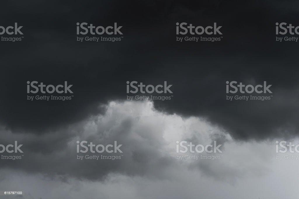Dramatic black storm cloud stock photo
