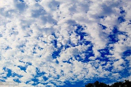 istock Dramatic blue cloud - sky 1071685086