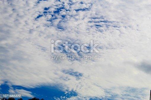 istock Dramatic blue cloud - sky 1071685322