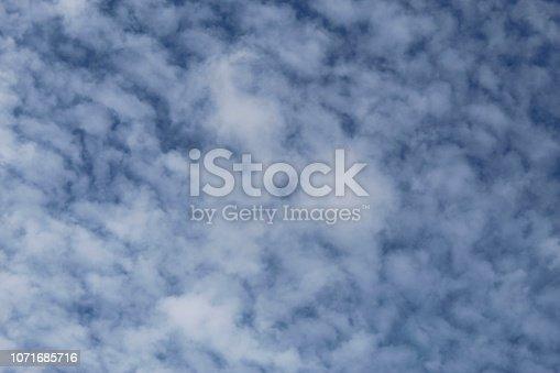 istock Dramatic blue cloud - sky 1071685716