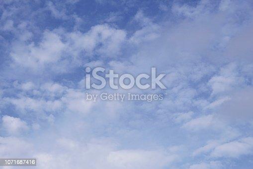 istock Dramatic blue cloud - sky 1071687416