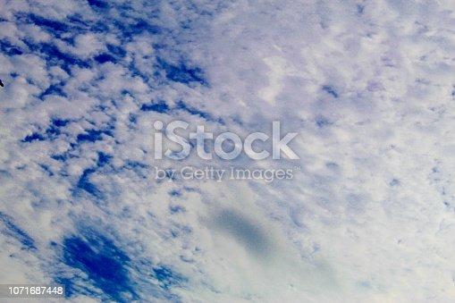 istock Dramatic blue cloud - sky 1071687448