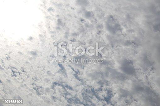 istock Dramatic blue cloud - sky 1071688104