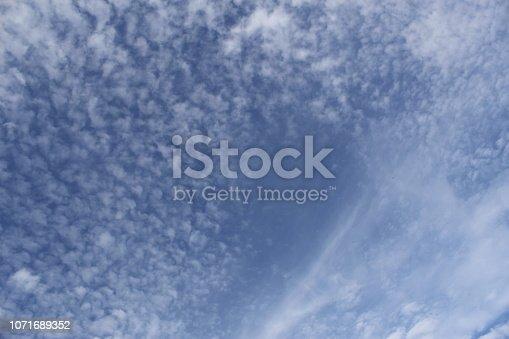 istock Dramatic blue cloud - sky 1071689352