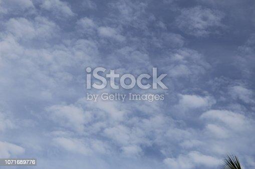 istock Dramatic blue cloud - sky 1071689776