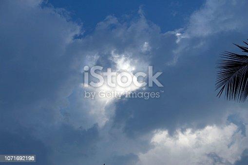 istock Dramatic blue cloud - sky 1071692198