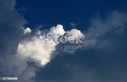 istock Dramatic blue cloud - sky 1071694696