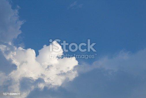 istock Dramatic blue cloud - sky 1071698822
