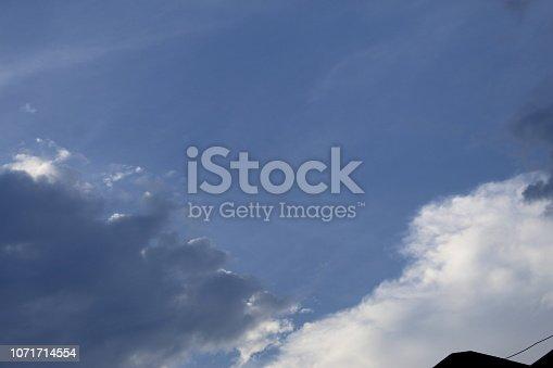 istock Dramatic blue cloud - sky 1071714554
