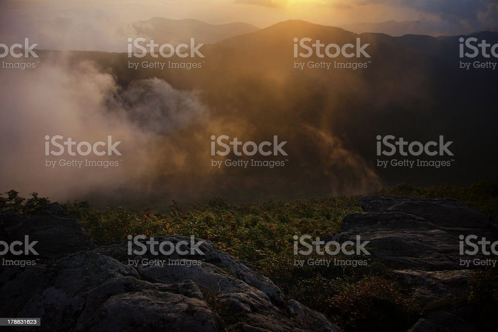 Dramatic Blue Ridge Mountain Sunset royalty-free stock photo