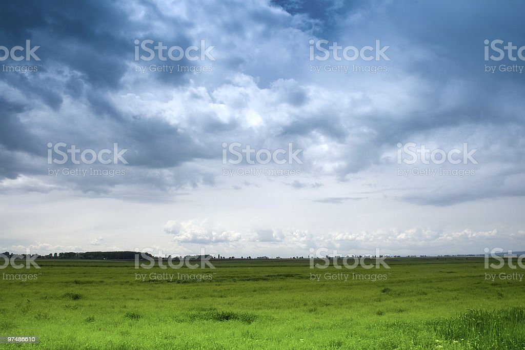 Dramatic blue sky royalty-free stock photo