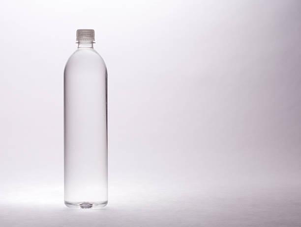 Dramatic bottled water stock photo