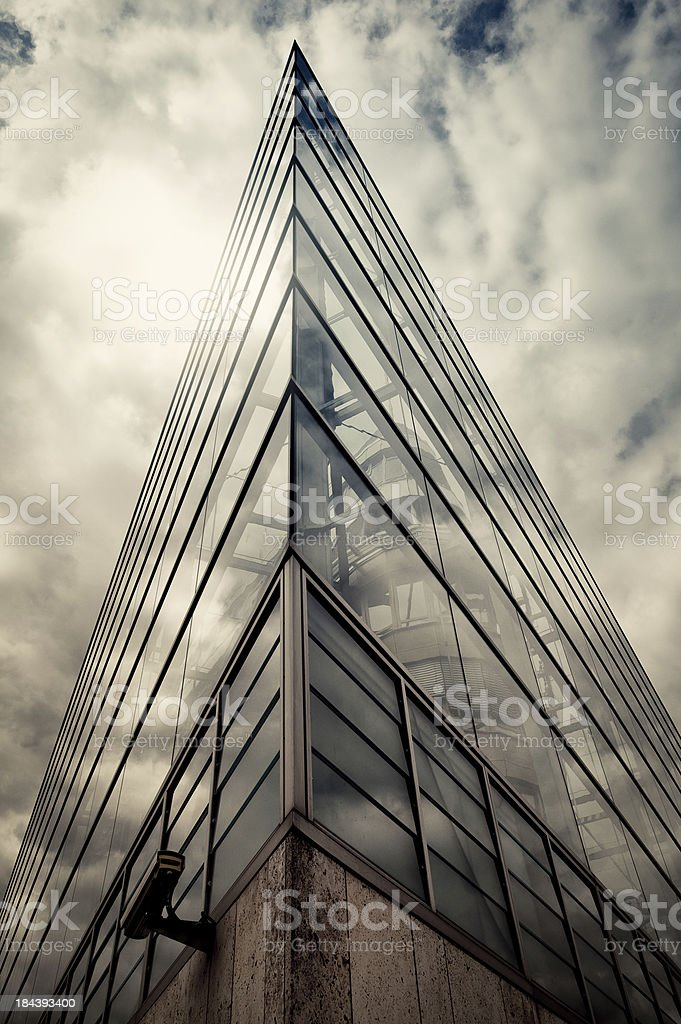 Dramatic Building stock photo