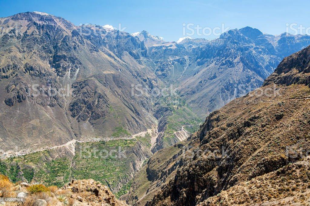 Dramatic Canyon View stock photo