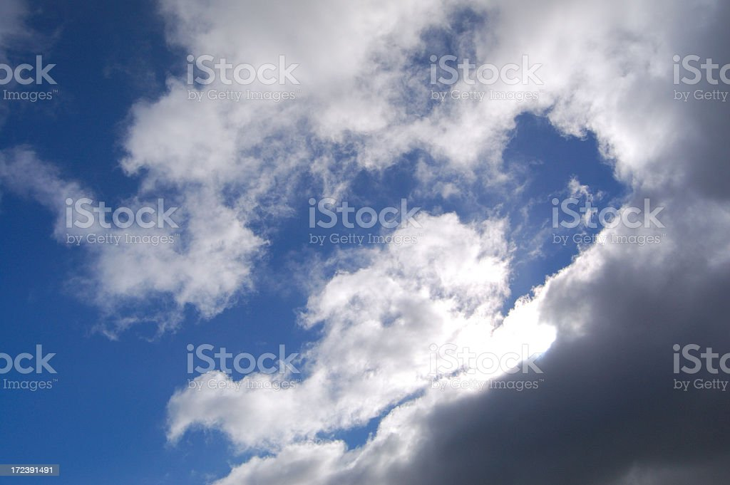 Dramatic Cloud Glow royalty-free stock photo