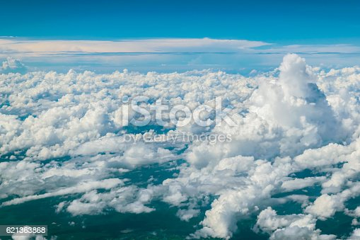 istock Dramatic cloud in the blue sky 621363868