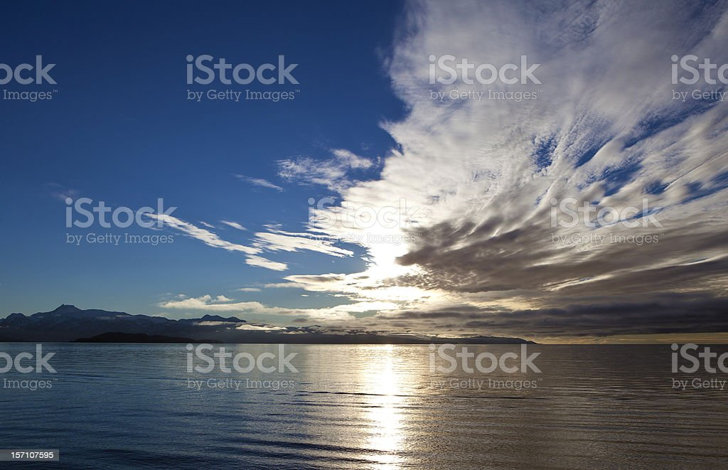 Dramatic Cloud Over the Bay stock photo