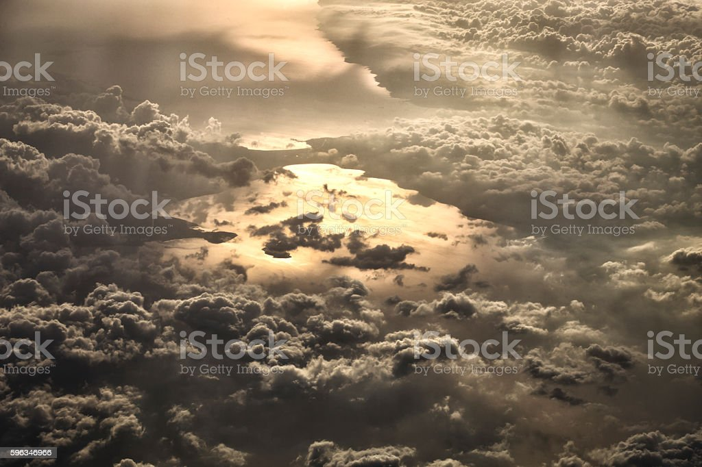 Dramatic Cloud with Sunshine royalty-free stock photo