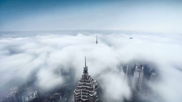 Dramatic Clouds in Shanghai stock photo
