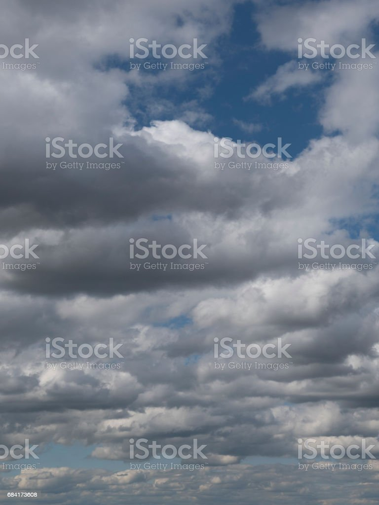 Dramatic clouds in the sky, cloudy skies with misty haze. royalty-free stock photo