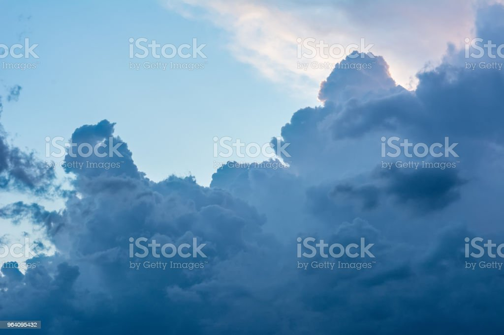 Dramatic clouds in the Ukrainian sky closed the sun - Royalty-free Backgrounds Stock Photo