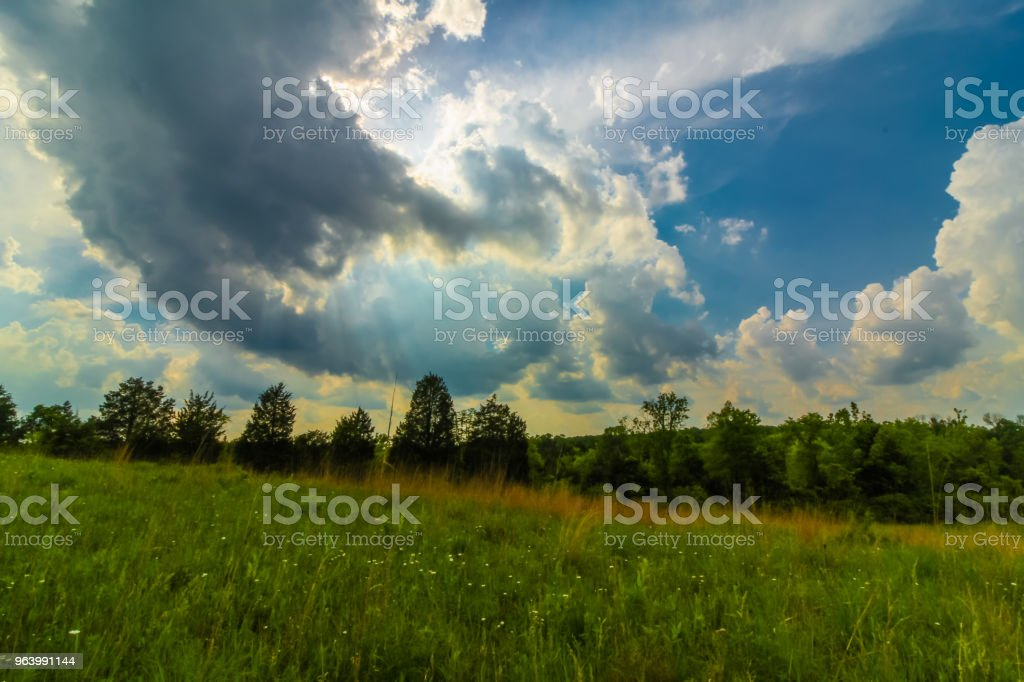 Dramatic Clouds Over Farm - Royalty-free Above Stock Photo