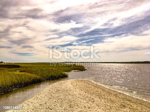 Dramatic Clouds Over the Guana River, North St. Augustine, Florida