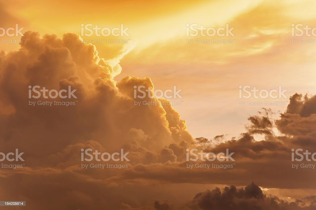 dramatic clouds stock photo