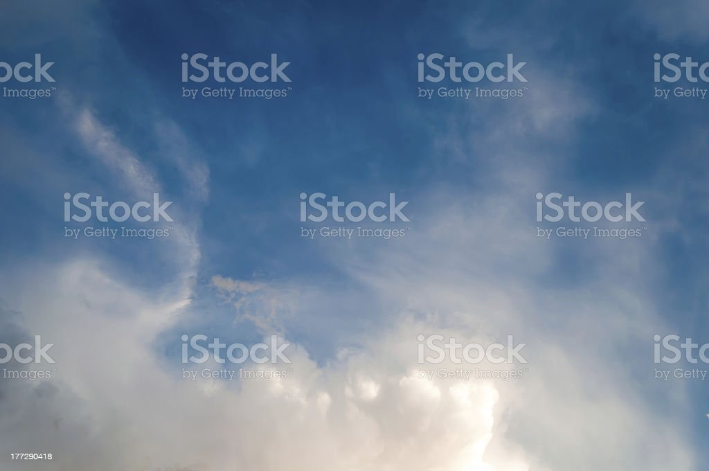 Dramatic clouds royalty-free stock photo
