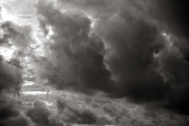 dramatic cloudscape background stock photo