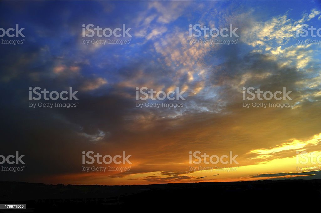 Dramatic Cloudscape Heaven royalty-free stock photo