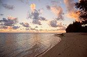 Dramatic Cloudscape over Sea and Tropical Island at Sunset - Rarotonga, Cook Islands, Polynesia