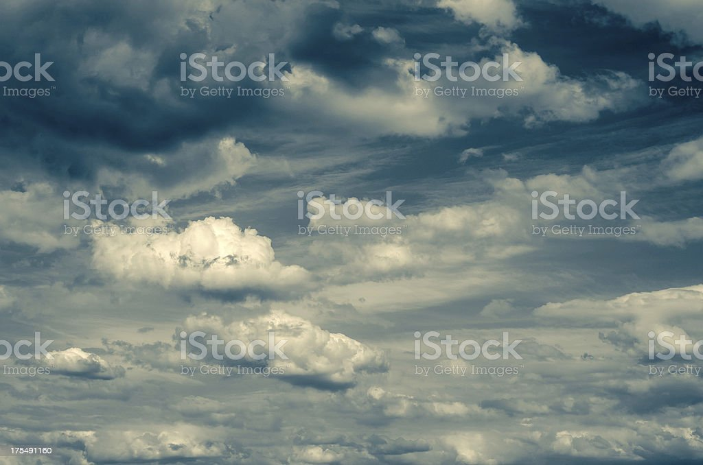 dramatic cloudy dark sky royalty-free stock photo