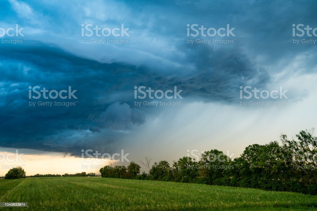 heavy rain approaching as a sign of a low preassure area,...