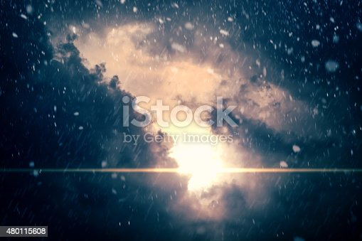 istock Dramatic Cloudy Sky Background 480115608