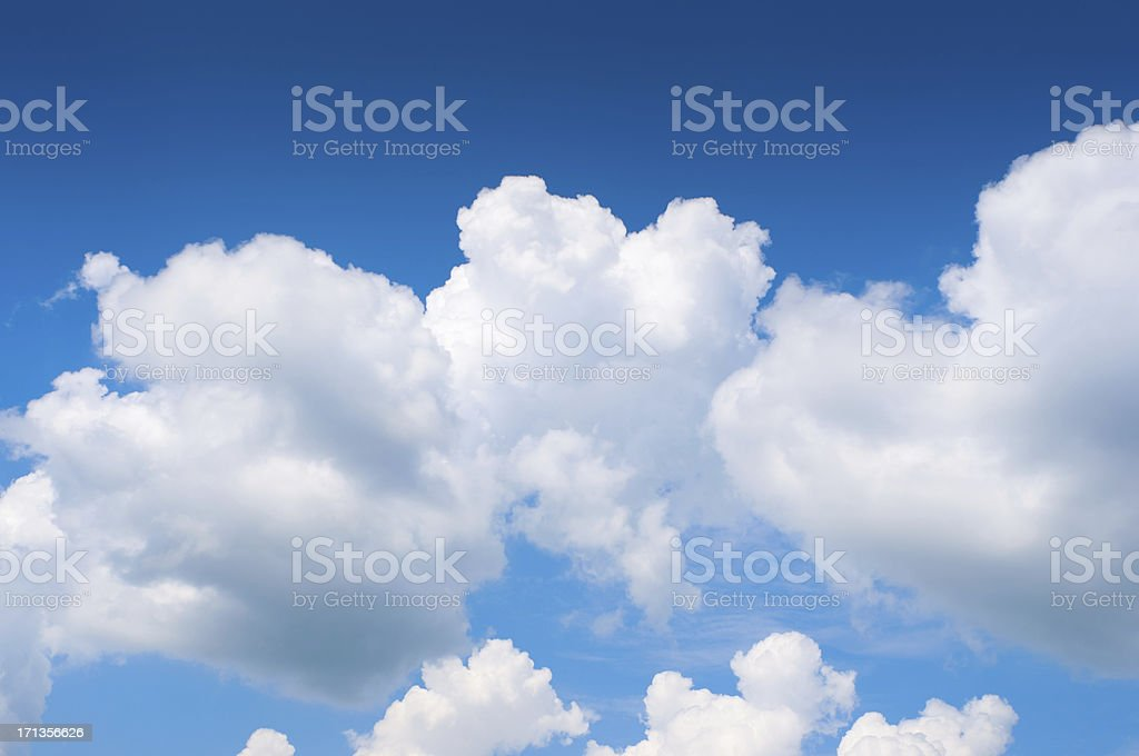 Dramatic cloudy sky royalty-free stock photo